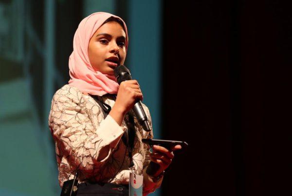 Nada al-Ahdal at a TED talk