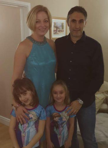 Alma Aganovic with daughters and husband